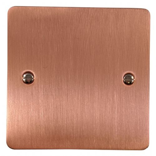 G&H FRG31 Flat Plate Rose Gold 1 Gang Single Blank Plate